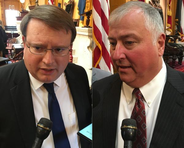 Senate President Larry Obhof (R-Medina) and House Speaker Larry Householder (R-Glenford)