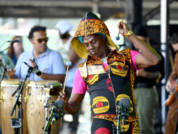 """This album was the first chapter where kung fu meets Afrobeat,"" Amayo says of the new Antibalas album <em>Fu Chronicles. </em>It is inspired by Amayo's martial arts background and the Afrobeat legend Fela Kuti."