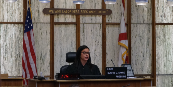 Judge Nushin Sayfie, of the Eleventh Judicial Circuit of Florida, restored voting rights to over a dozen people on Friday