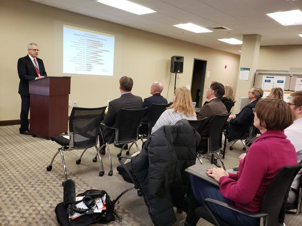 John Felton, RiverStone Health President and CEO, speaks about the latest Yellowstone County Community health needs assessment results on Feb. 10, 2020.