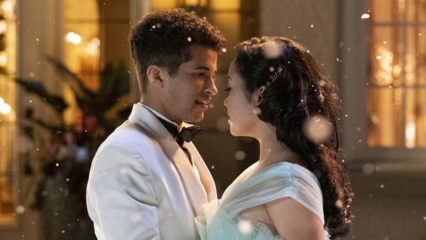 Wait a minute, that's Lara Jean, but that's not Peter Kavinsky! (Jordan Fisher and Lana Condor play John Ambrose and Lara Jean Song Covey.)