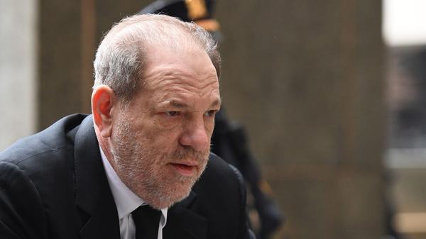 Harvey Weinstein arrives at court last month in Manhattan.