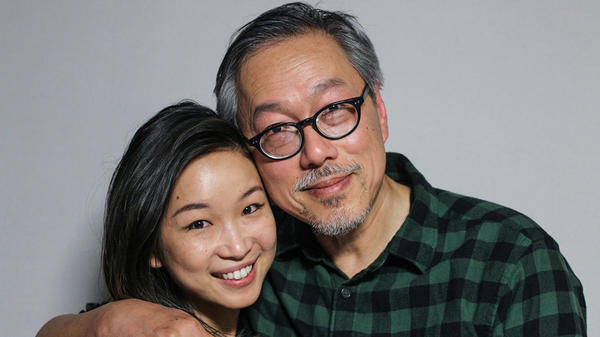 Tria Chang (left) remembers her late mother with her father, Eddie Chang, in a <em>StoryCorps</em> interview from May 2017 in San Francisco.