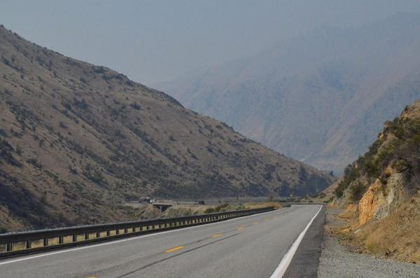 <p>A scene from August, 2018 in Washington's Wenatchee Valley. Air pollution from wildfires is putting more particulate in the air. This affects human health as well as visibility.</p>