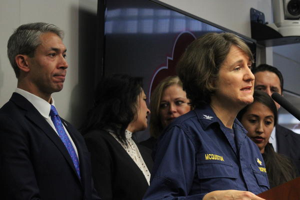 San Antonio Mayor Ron Nirenberg and Capt. Jennifer McQuiston with the CDC were pleased with the medical response and remained confident risk to the public was low.