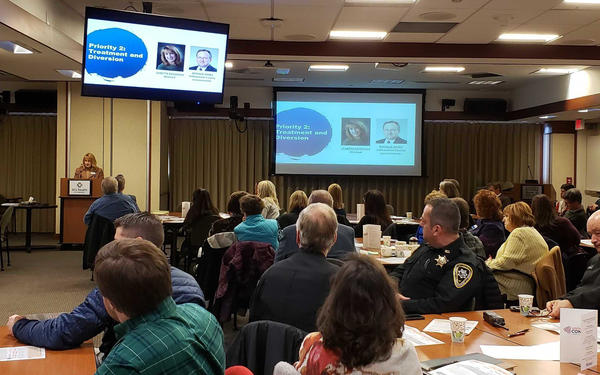 Members of the Yellowstone County Connect Coalition  shared personal stories as they explained the process of developing the action plan.