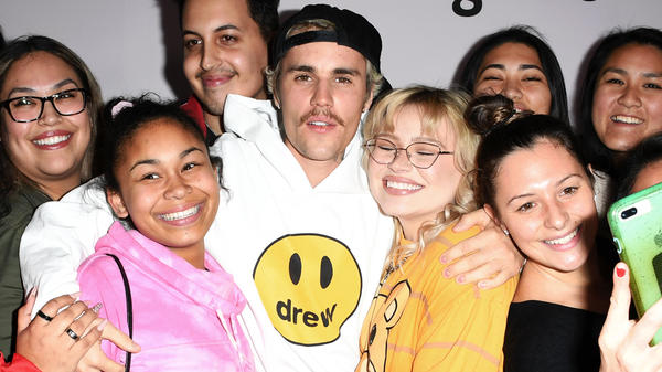 Justin Bieber, photographed with fans at the premiere of his  self-produced YouTube documentary series <em>Seasons</em>, on Jan. 27, 2020 in Los Angeles. The pop star released his first album in five years, <em>Changes</em>, on Feb. 14.