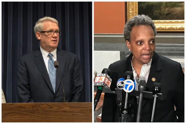 House GOP Leader Jim Durkin and Chicago Mayor Lori Lightfoot both condemned President Donald Trump's decision to forgive the rest of Rod Blagojevich's sentence at separate events in Springfield on Tuesday