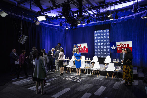 Democratic candidates for U.S. Senate prepare for a debate hosted by KUT, The Texas Tribune and KVUE on Tuesday.