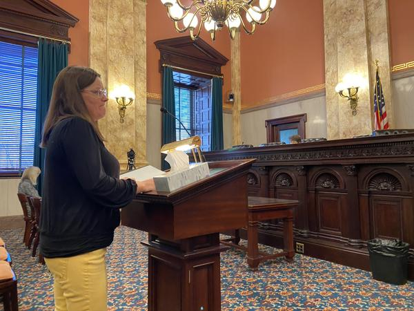 Anna Cunningham testifies about the rape she endured and the stories she's heard from other survivors before the Ohio Senate Judiciary Committee.