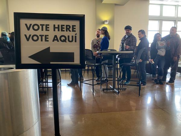 Voters lined up over the weekend at the University of Nevada, Reno, and several other locations across the state, to cast their early ballots during Nevada's caucuses.