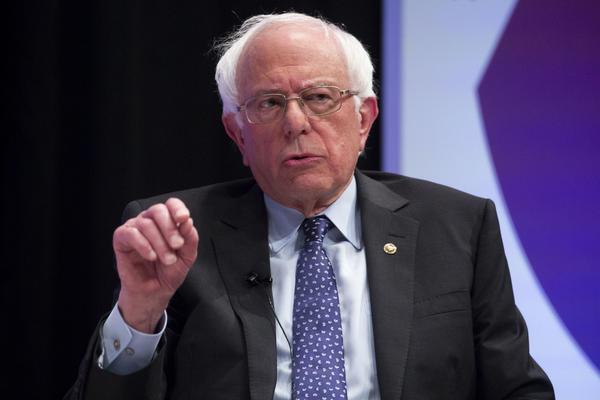 Bernie Sanders at a political forum in Houston in 2019.