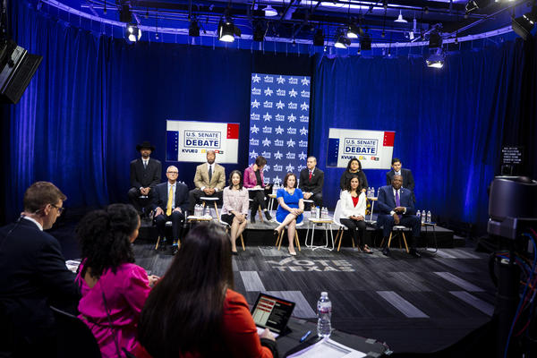 Texas Standard, KUT, KVUE-TV and The Texas Tribune held a debate with the candidates running for the Democratic nomination for U.S. Senate Tuesday night.