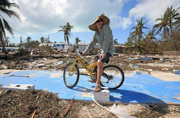 Hurricane Irma destroyed or caused major damage to thousands of homes in the Keys, including Billy Quinn's trailer at Seabreeze trailer park.