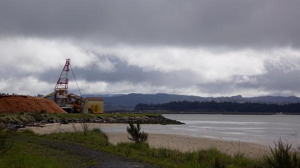 <p>A view of Coos Bay from a spot where Jordan Cove LNG terminal ship will be excavated, if approved by regulators.</p>