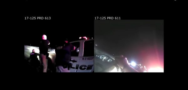 Police camera footage from when Matt Holmes was beaten and fatally shot by Newton police in August 2017.