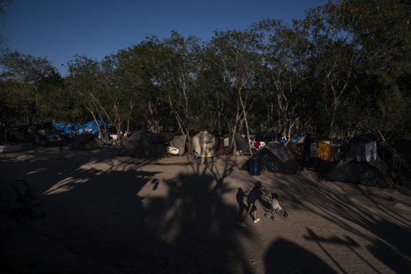 An encampment a few yards away from the Rio Grande where more than 2,000 people who are seeking asylum in the U.S. live is seen in Matamoros, Mexico, on Wed. Jan. 29, 2020.