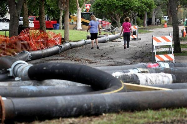 The Rio Vista neighborhood was one of several areas in Fort Lauderdale hit by a sewer break in the past couple of months.