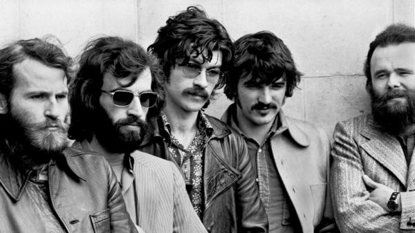 The Band in London, June 1971. From left: Levon Helm, Richard Manuel, Robbie Robertson, Rick Danko and Garth Hudson.