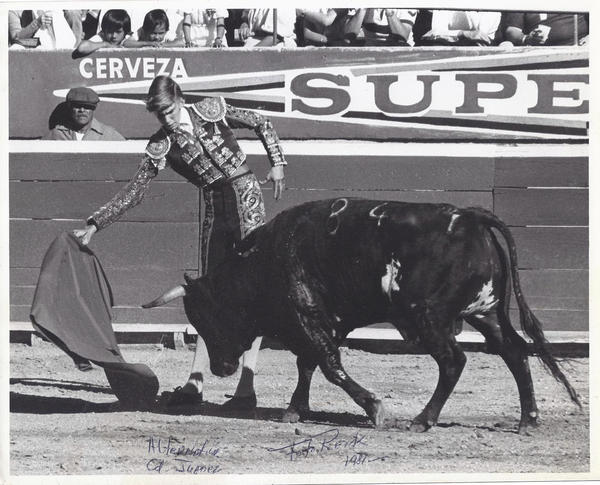 David Renk decided to study bullfighting when he was 28.