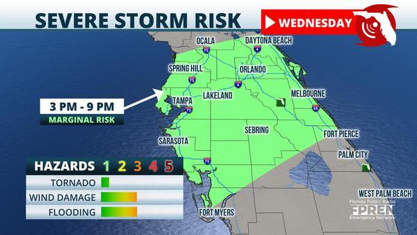 Marginal Risk for Severe Storms in Central Florida