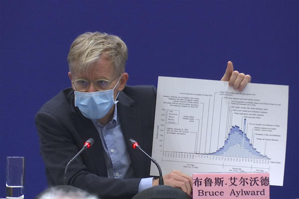 Bruce Aylward, an assistant director-general of the World Health Organization, at a press conference in Beijing on Feb. 24.