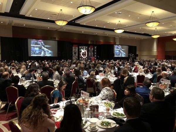 """25th Annual Children's Hunger Alliance """"Menu of Hope"""" in the Hyatt Regency Ballroom in Columbus with keynote speaker Sugar Ray Leonard."""