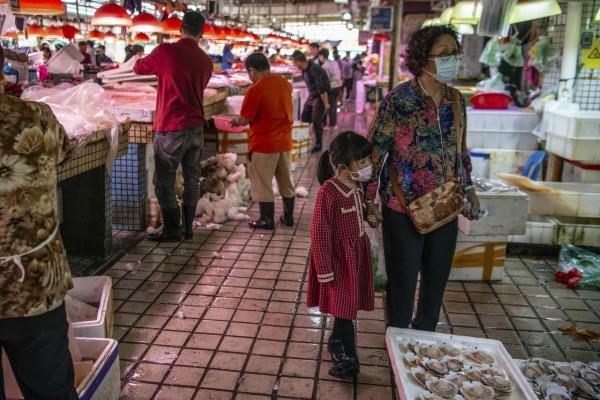 Shopping at the market on January 25.