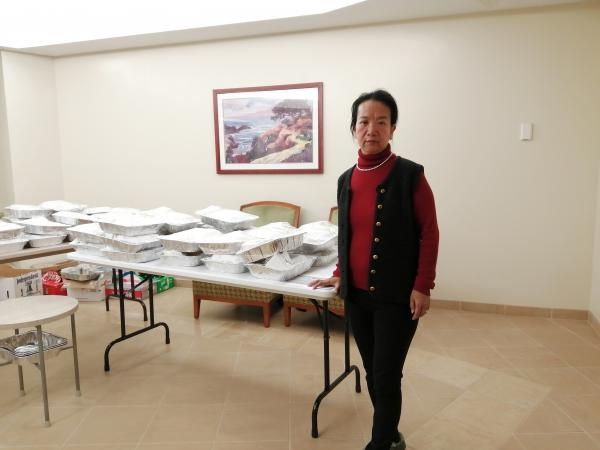 Chunlin Leonhard, is under quarantine at the Travis Air Force Base. She and others under quarantine are housed on base and where they receive delivered meals three times a day.