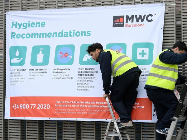 Organziers of the Mobile World Congress had resisted calls to cancel the event, but reversed course after major companies pulled out over coronavirus fears.
