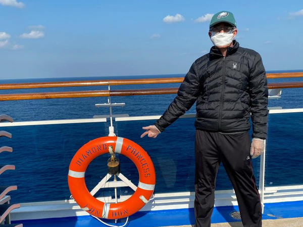 Carl Goldman says he was excited to visit new places on the Diamond Princess cruise through Southeast Asia.