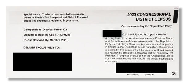 "A Republican survey and fundraising letter bills itself as a ""census,"" raising concerns from advocates who worry about confusing people during the United State's decennial population count."