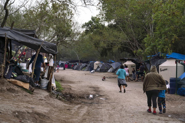 "More than 2,000 people live in a migrant encampment in Matamoros, Mexico. Many are asylum-seekers that were sent back under the ""Remain in Mexico"" program."