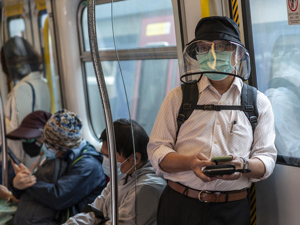 Hong Kong residents have been wearing increasingly more dramatic protective gear in response to the coronavirus outbreak.