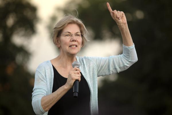 Democratic presidential candidate Elizabeth Warren speaking at a rally in Austin in September.
