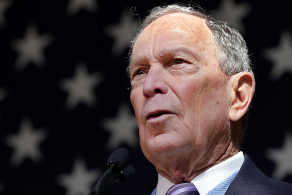 Democratic presidential candidate Mike Bloomberg, former mayor of New York City, speaks at a rally in Houston on Feb. 27.