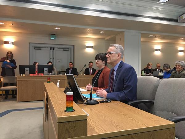 Washington Sec. of Health John Wiesman testifies before the Senate Ways and Means Committee about the coronavirus outbreak and associated costs.