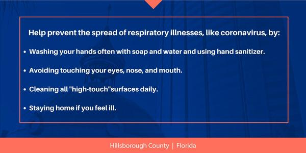 With cases of COVID-19 in Hillsborough and Manatee counties announcements to prevent the spread are being regulary delivered.