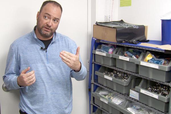 Dr. Eric Yazel explains the different services Clark County's syringe service program offers.