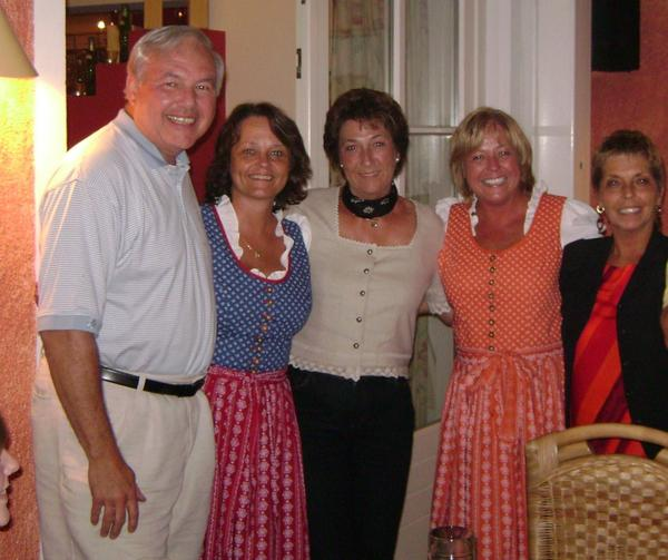 Members of the Nestor family made one big trip to visit Margaret in Austria, in 2007.