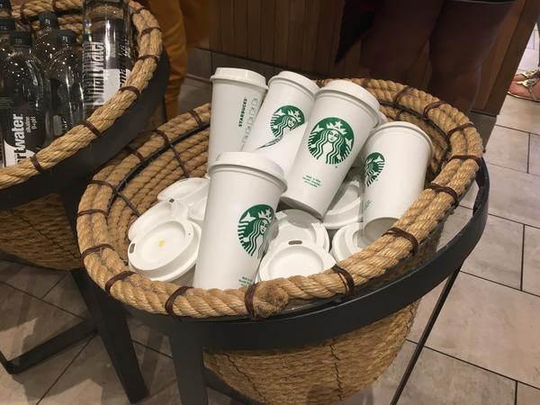 Starbucks said it is 'pausing' the use of personal cups due to the coronavirus outbreak.
