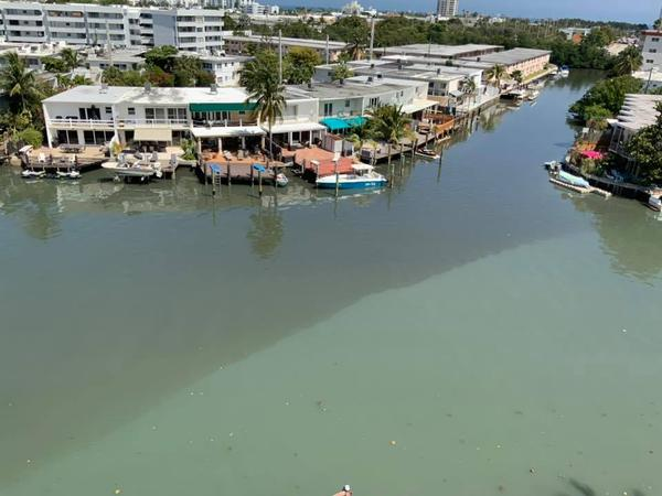 From her North Beach condo balcony, Miami Beach resident Bibi Andrade photographed the sewage leak about 1 p.m. Thursday.