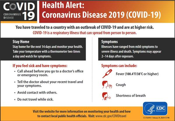 The Florida Dept. of Health reports two Florida senior citizen who had traveled abroad have died from the novel coronavirus - the first two deaths in Florida.