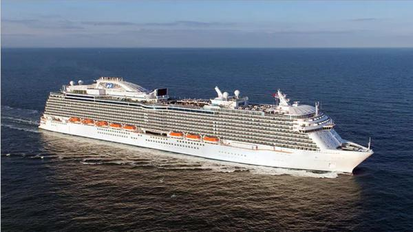 The Regal Princess cruise ship, seen here in a publicity photo, was being held off Florida's east coast Sunday until tests for the coronavirus came in for two crew members.