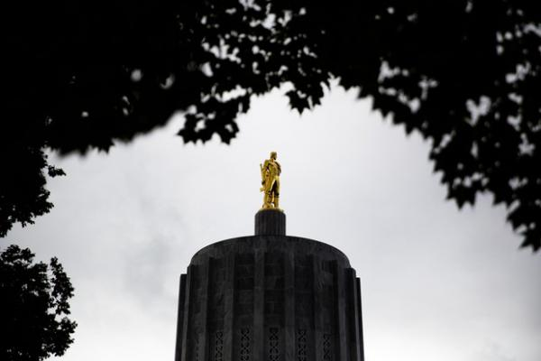 <p>The Oregon Capitol in Salem, Ore., Thursday, Sept. 26, 2019. A new bill passed by the Legislature this summer drastically limits application of the death penalty.</p>