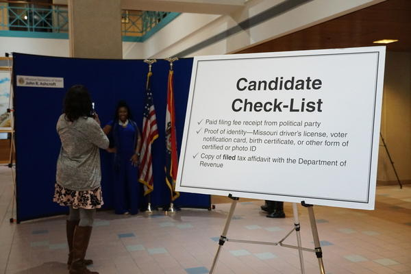 State-level candidates flocked to Secretary of State Jay Ashcroft's office on Tuesday to file for the Aug. 4 primary.