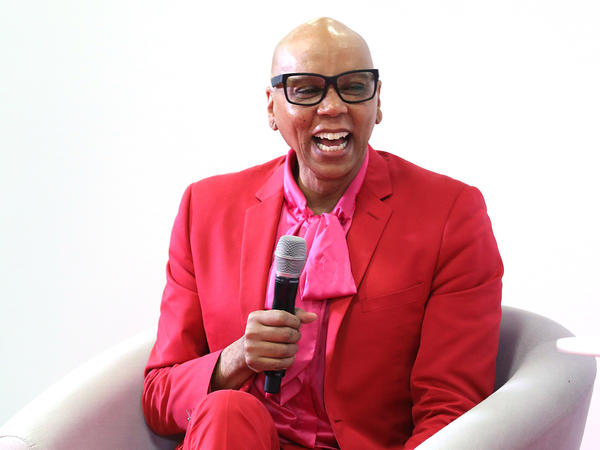 """It's all a lie — this world is a lie,"" says RuPaul Charles. ""So don't base your value on the lie."" RuPaul is shown above in London on Jan. 18, 2020."