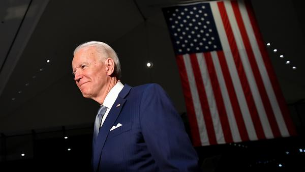 Democratic presidential hopeful former Vice President Joe Biden spoke at the National Constitution Center in Philadelphia on Tuesday night.