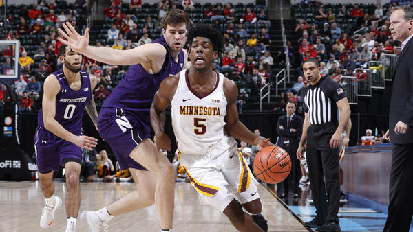 Minnesota and Northwestern played before fans on Wednesday in the first round of the Big Ten Men's Basketball Tournament at Bankers Life Fieldhouse in Indianapolis.