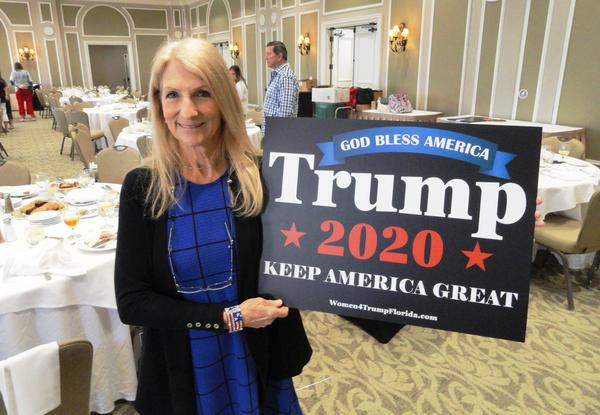 Vickie Rubin of Lakewood Ranch shows who she's voting for